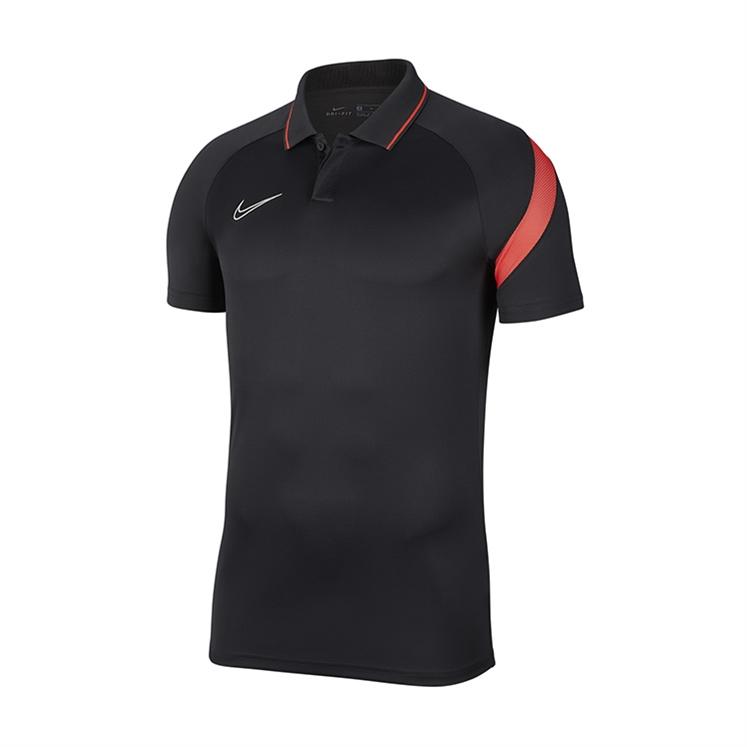 Nike Dri-FIT Academy Pro Polo Anthracite/Bright Crimson