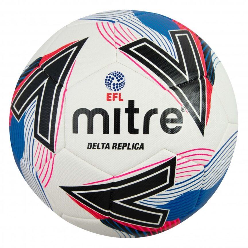 Mitre EFL Delta Replica Training Ball White/Blue/Black