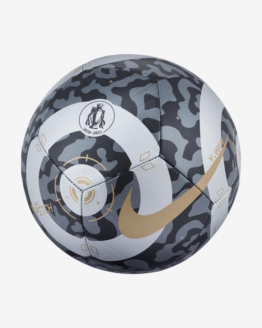 Nike Premier League Pitch Football Black/Silver/Gold