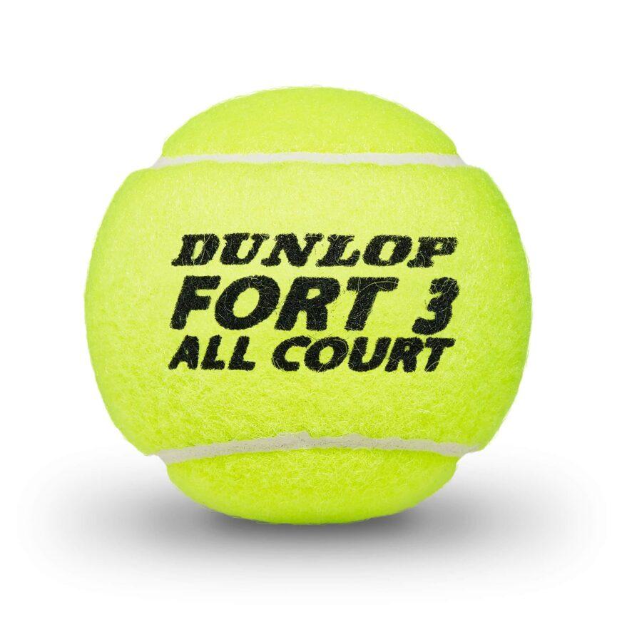 Dunlop Fort All Court Tournament Tennis Balls – 1 Dozen